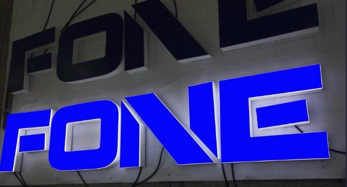 Spray Paint Stainless 3D Sign Steel Wooden Color Fashion LED Backlit Channel Letter Sign