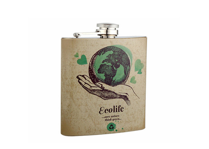 Environmental Tree Design Series Wine Hip Flask Set for Gift