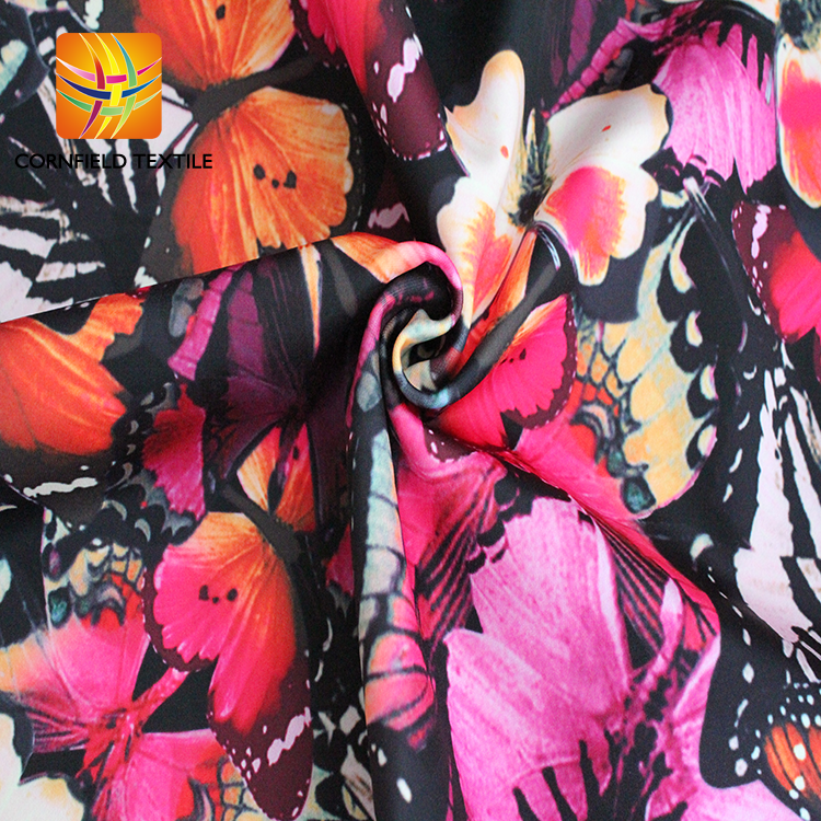 Digital Print Polyester Knit Fabric