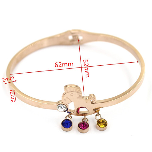 High Quality Promontional Customized Logo Stainless Steel Bracelet