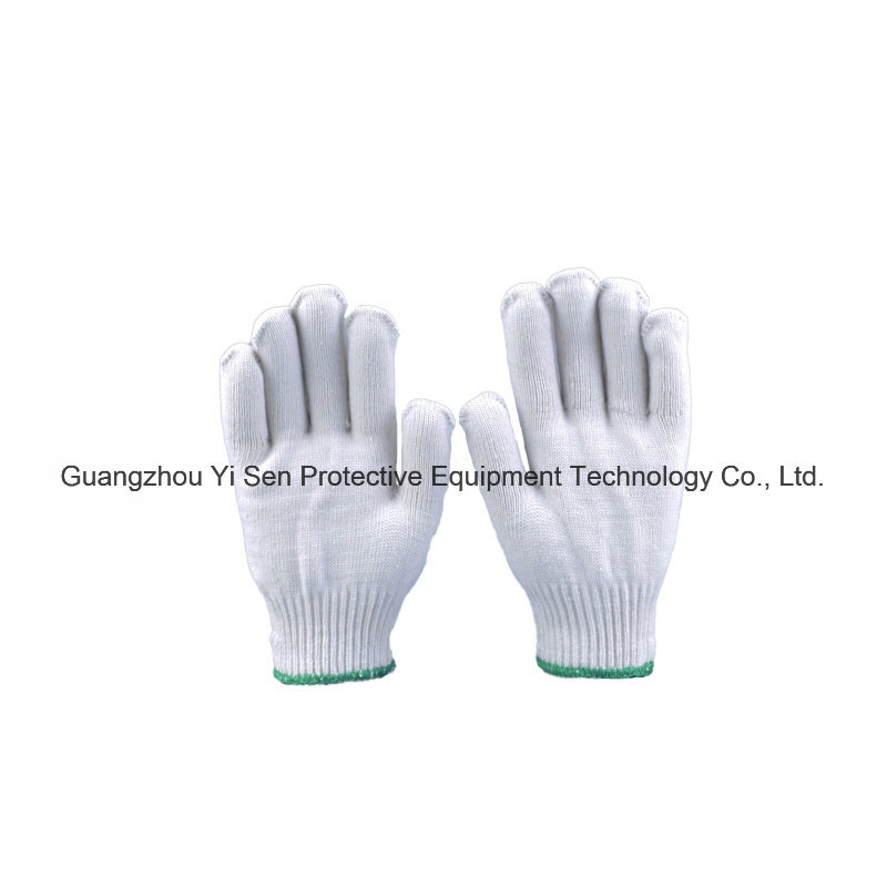 Good Quality Cotton Industrial Work Gloves with Raw Knitting Golve