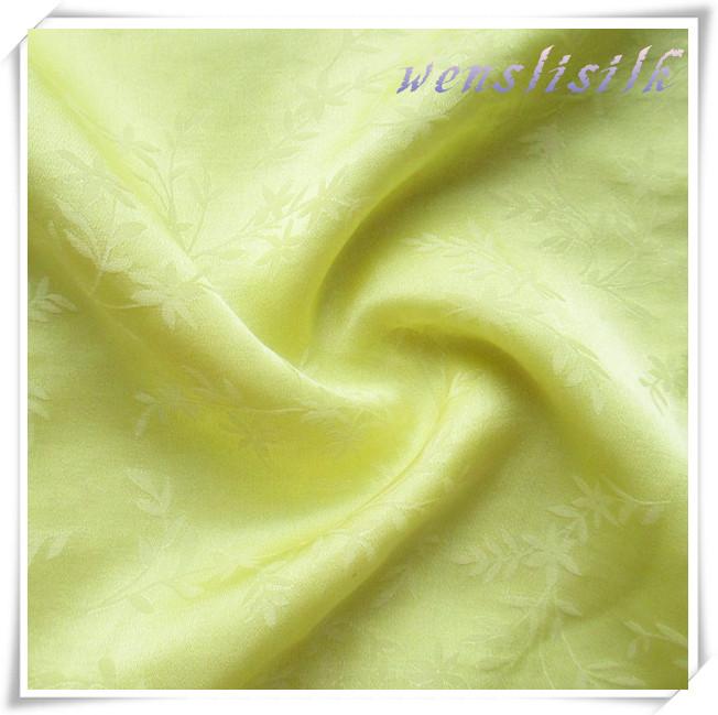 40s60c Jacquard Silk Cotton Blend Fabric