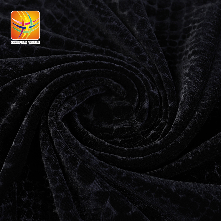 Embossed Black Fabric