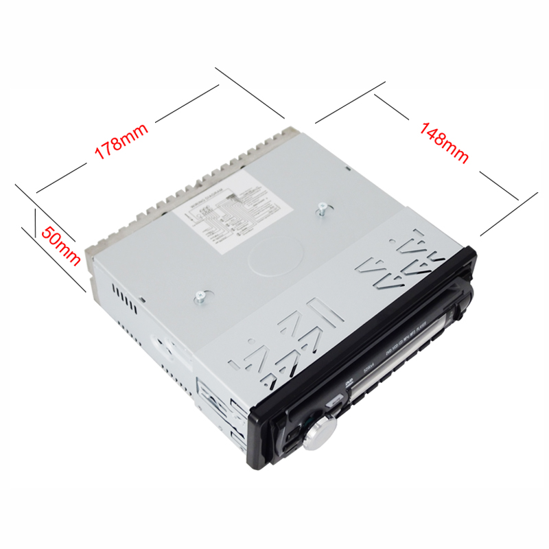 One DIN Fixed Panel Car DVD Player Ts-6004f