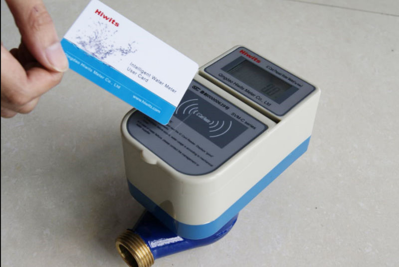 IC Card Prepaid Water Meter with Brass Body