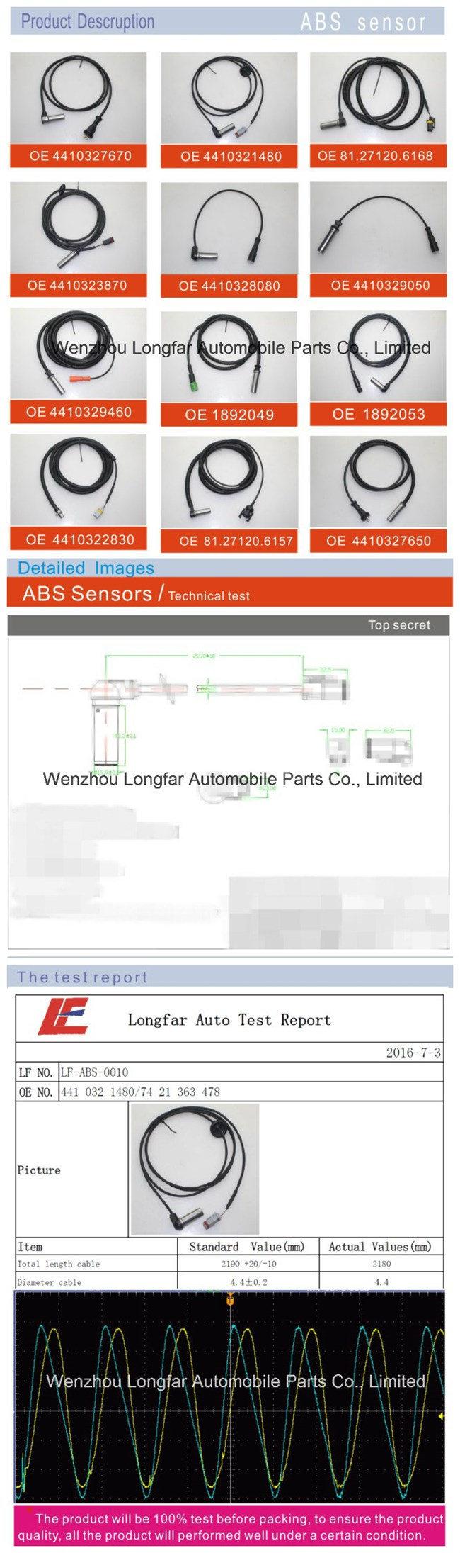 Auto Truck Oil Pressure Sensor Oil Press Transducer Indicator Sensor 51.27421.0262 for Man