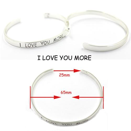 Fashion 316 Stainless Steel Charm Friendship Cuff Bracelets