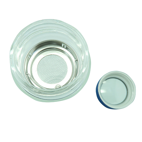 Double Wall Glass Tea Bottle 380ml with Strainer
