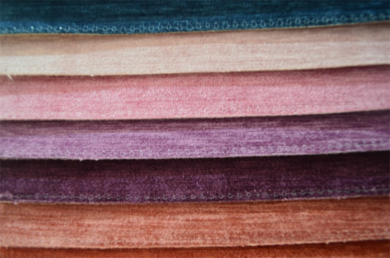 Plain Chenille Fabric for Sofa Packing in Rolls (EDM0194)