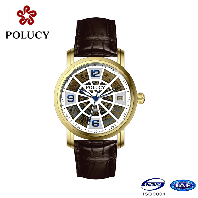 OEM Stylish Luxury Automatic Mechanical Watch for Men