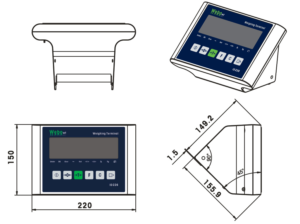 Animal Scale Weighing Controller