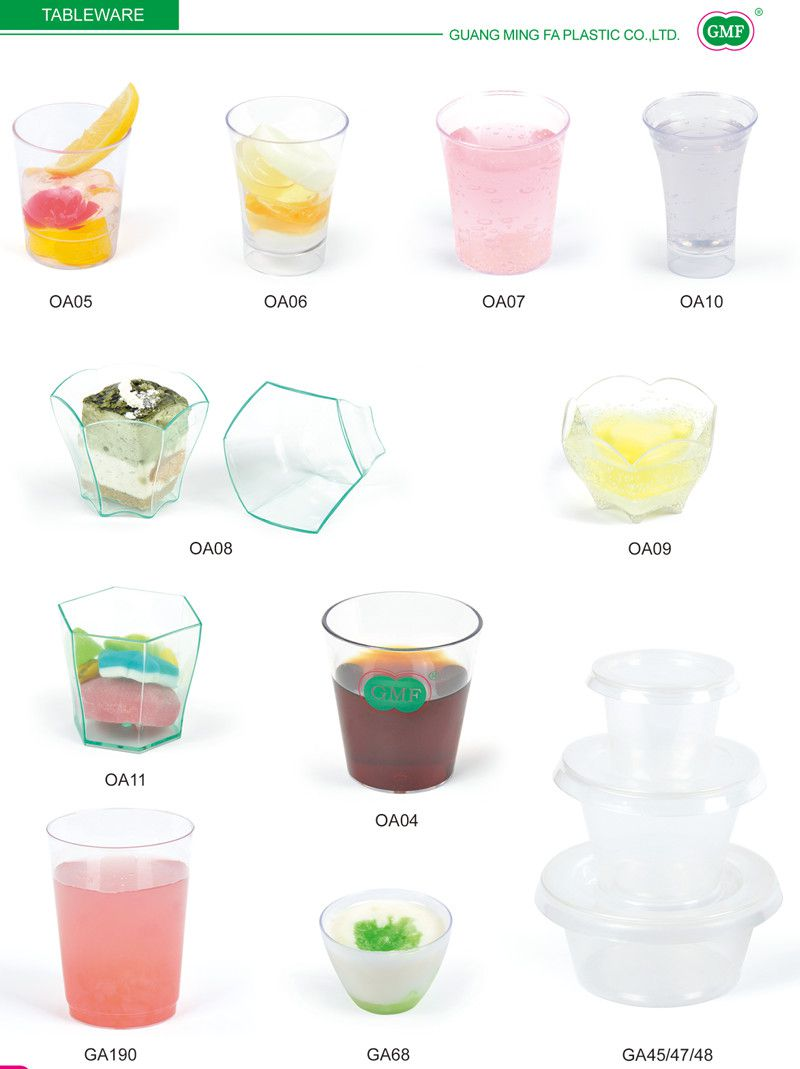 Plastic Disk Disposable Saucer Round 3 Compartment Tray