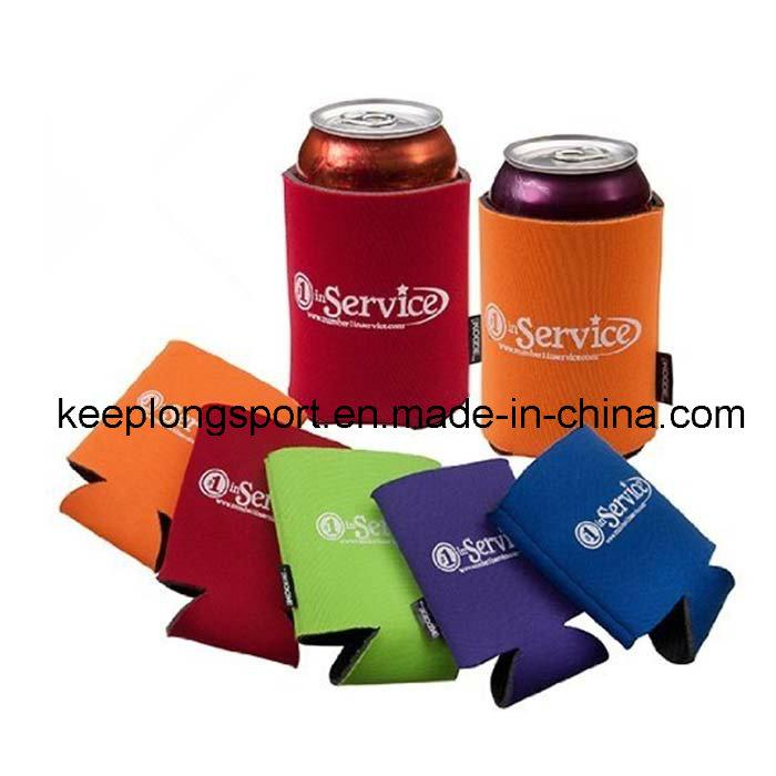 2016 Fashionable Folded Neoprene Can&Bottle Cooler