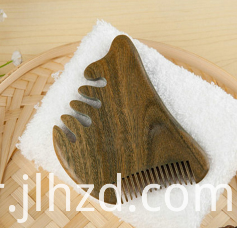 2 sides wooden comb