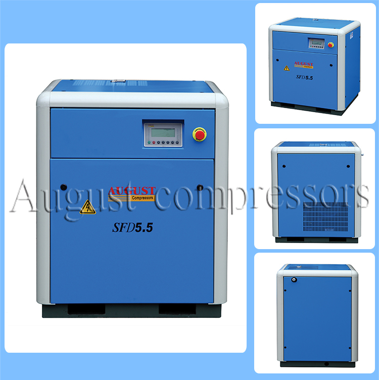 5.5kw/7.5HP August Air Cooled Screw Compressor