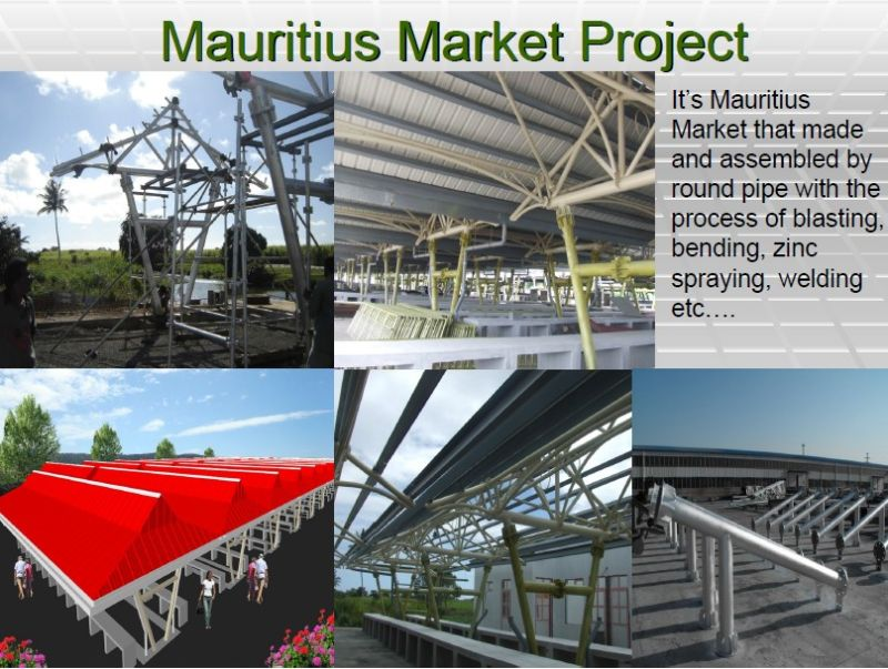 Low Cost Steel Space Truss Structure Building