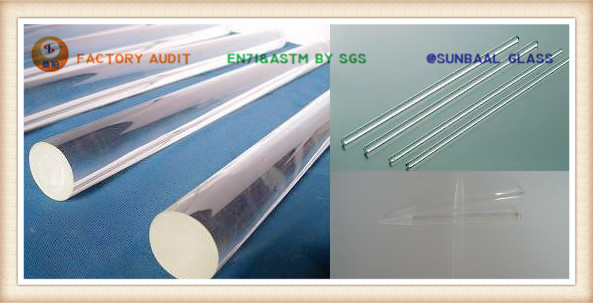 Glass Rod for Handrail and Decoration