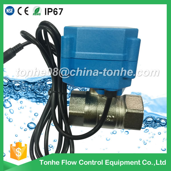 Dn20 2-Way Cr202 220V Nickel Plated Brass Electric Motorized Ball Valve for Steam