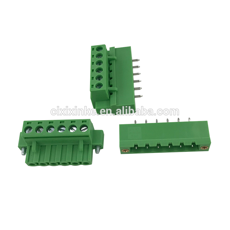 5.08mm pitch 6pin terminal block with fixed screw