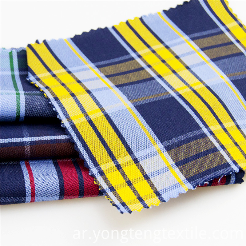 Cotton Yarn Dyed Plaid Fabric