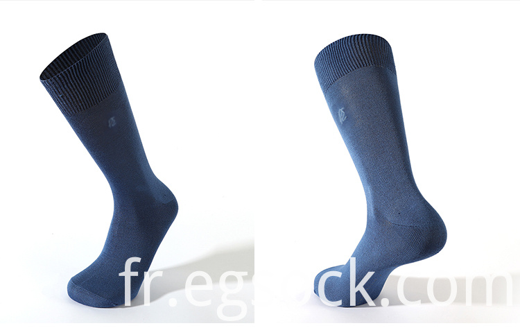 Item Name Manufacturer soft custom embroidery logo designs premium solid color formal bamboo socks women men Model Number EGK2002 Material 77%RAYON FROM BAMBOO,21%POLYESTER,1%SPANDEX,1%OTHER FIBER(EXCLUSIVE OF ELASTIC) Needle 168ND Size One size Weight 60g Gender Unisex Season Four seasons Toe linking Rosso Packaging Customization Service Accept customized design Details Images