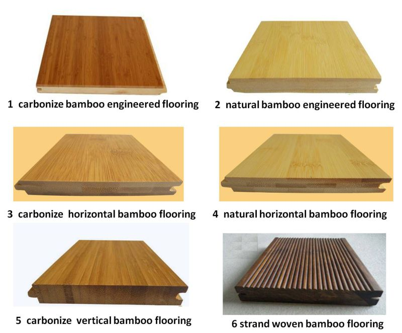 Carbonized Horizontal Solid Bamboo Flooring UV Lacquer Smooth