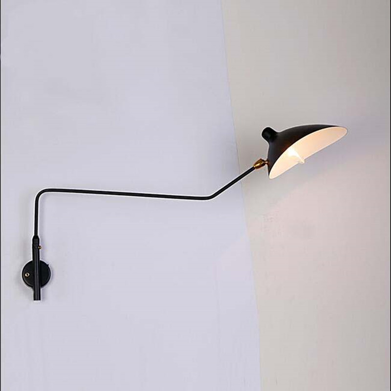 Simple Hotel Decorative Rotatable Bedside Reading Wall Lamp