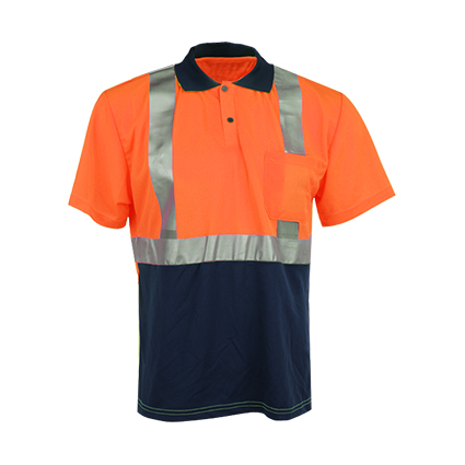 Short Sleeve Reflective Safety T-Shirt with Pocket