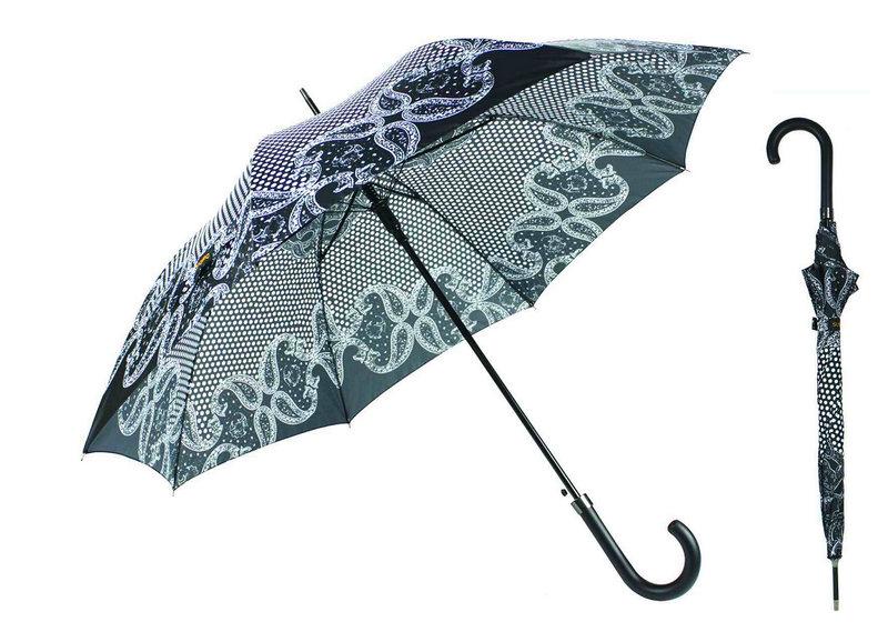 Straight Automatic Black&White Design Umbrella (YS-SA23083923R)