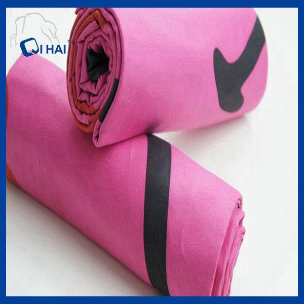Pink Color Solid Microfiber Quick Dry Towel (QHQ88212)