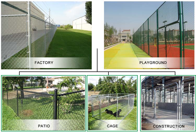baseball fields chain link fence