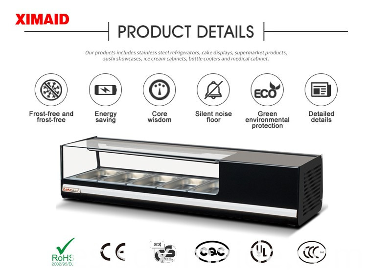 refrigerated display cases sushi