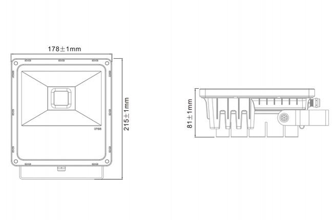 High Lumen 30W LED Floodlight Aluminum Garden IP65 Waterproof