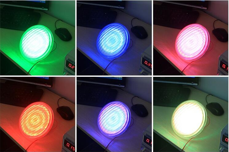 2016 Stainless Steel/Thick Glass/PC Material IP68 12V AC 18W-35W RGB Color PAR56 LED Pool Lights