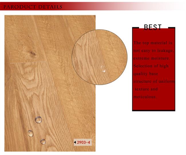 8.3mm Vinyl Plank HDF Oak Walnut Parquet Waxed Edged Laminate Wood Flooring
