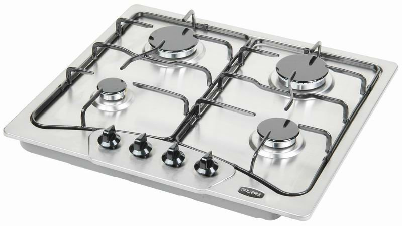 Four Burner Stainless Steel Hobs