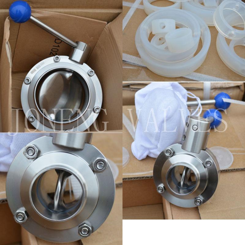 Stainless Steel Pull Handle Welded Sanitary Butterfly Valve (JN-BV3001)