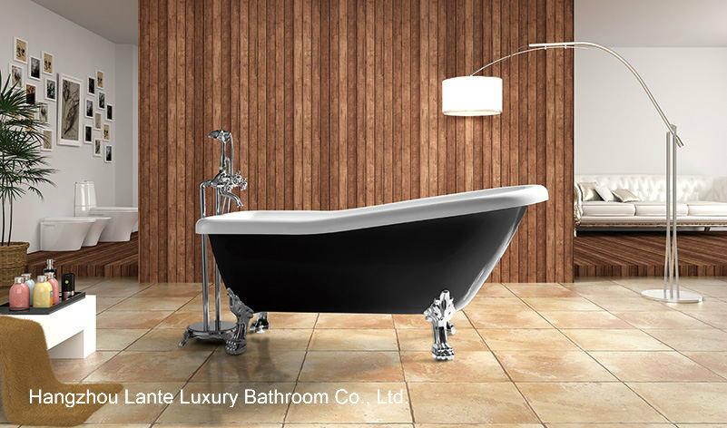 Hot Black Color Acrylic Classic Bath Tub with Foot (LT-11TB)