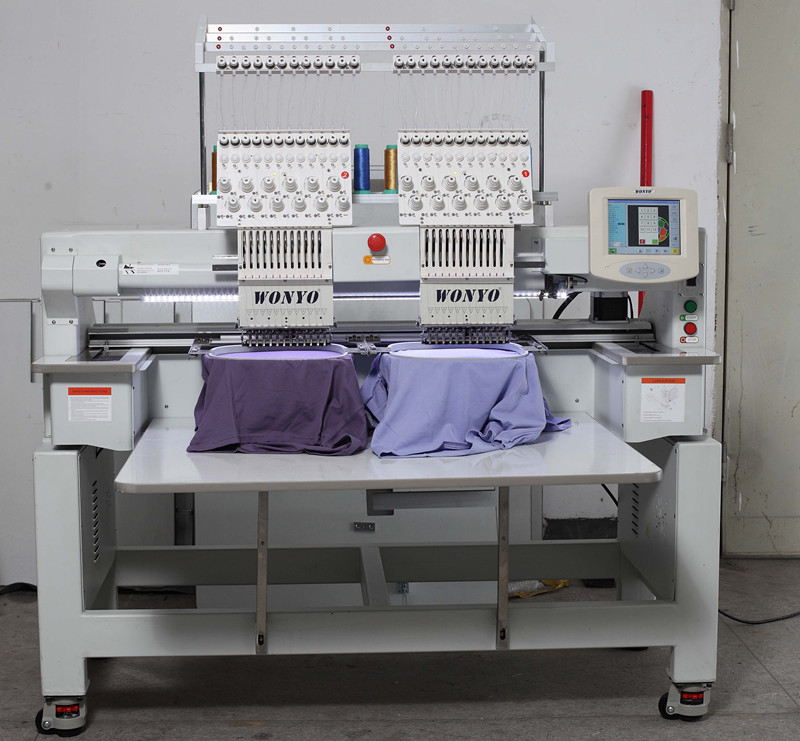 Maquina De Bordado Wonyo Brand 2 Heads Computer Embroidery Machine with Sequin Function
