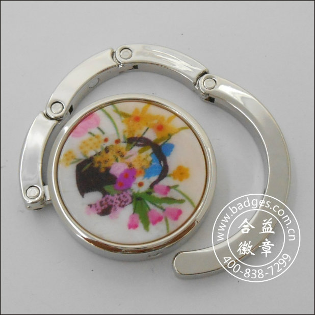 Bag Hanging Ring, Butterfly Bad Hanger with Diamonds (GZHY-BHR-001)