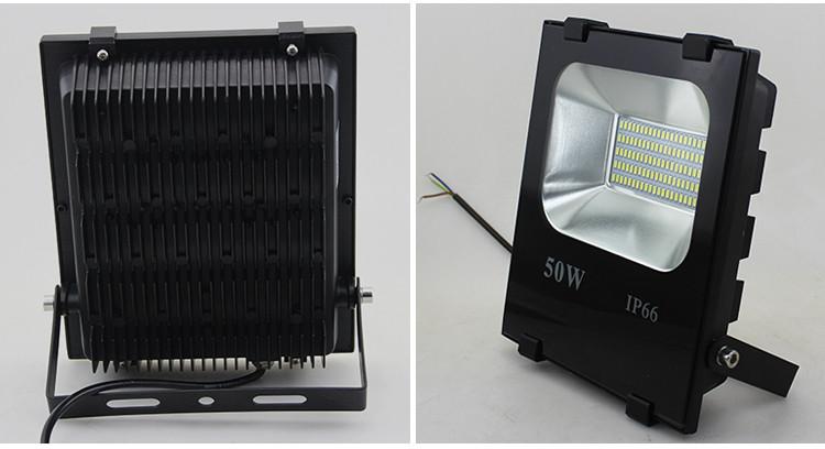 50 Watt High Lumen Bridgelux Dimmable DMX LED Solar Flood Light