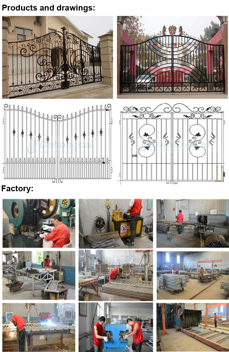 Beautiful Ornamental Iron Gates in Concise Design Style
