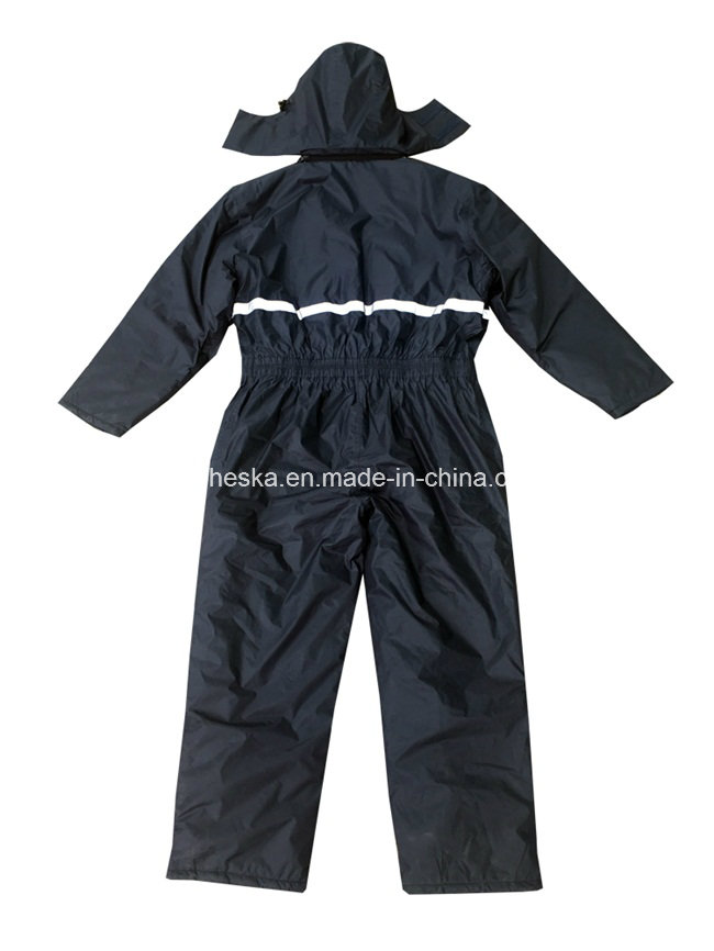 Mens Warm Workwear Padded Winter PVC Coverall