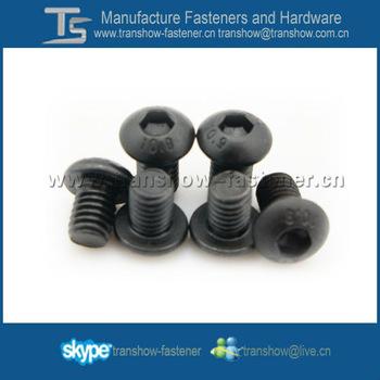 Black Zinc Plated Hex Socket Button Head Screw