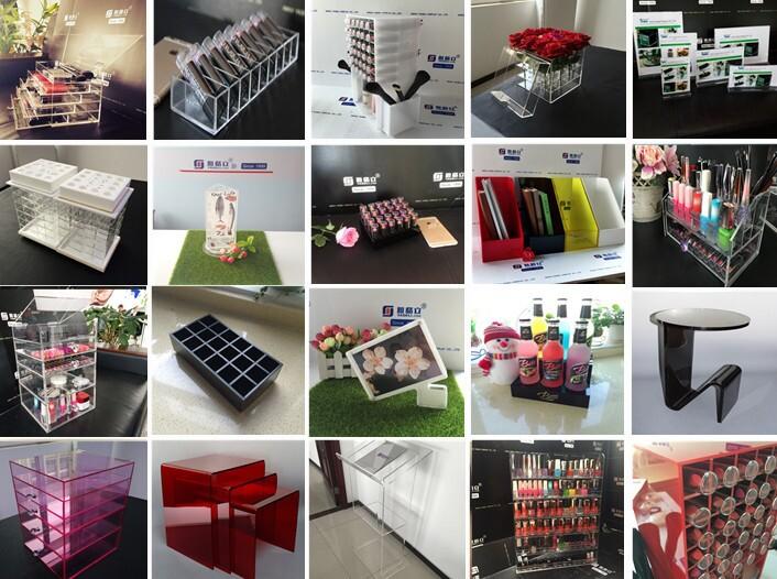 Rose Red Acrylic Makeup and Lipstick Organizer Gloss Organizer
