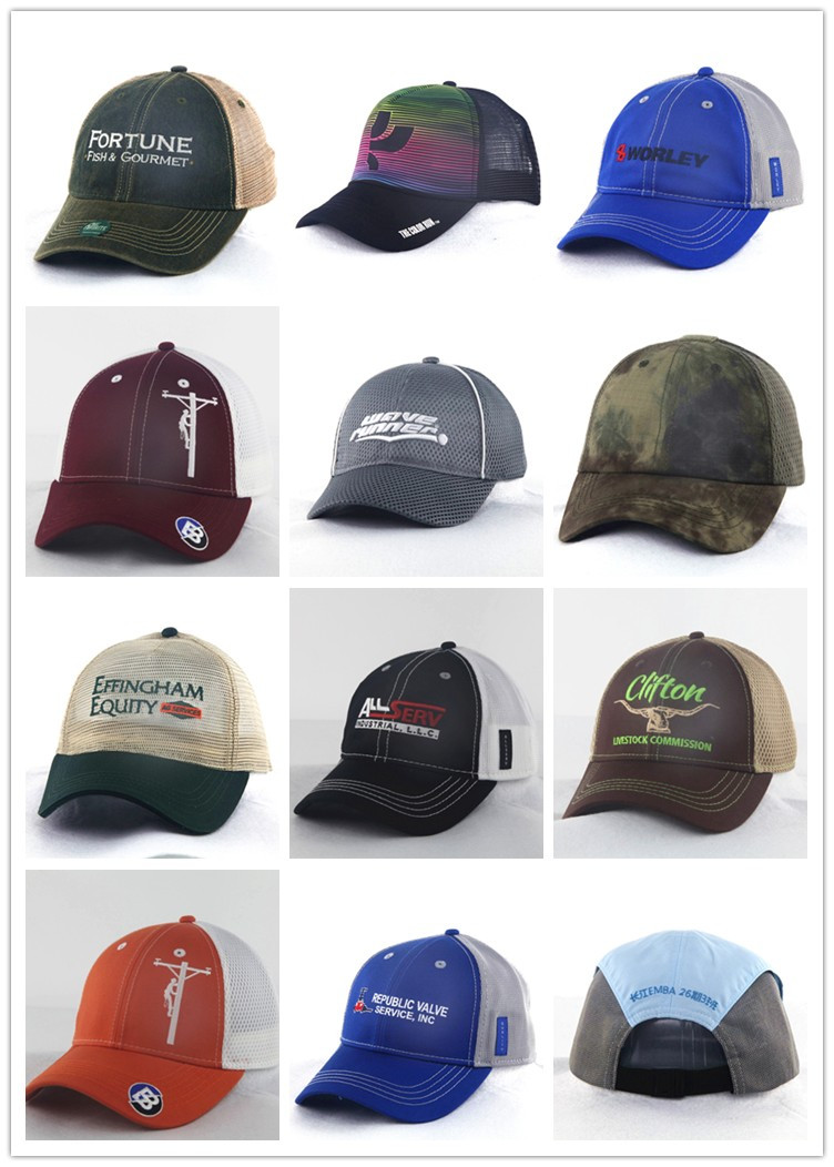 New Structured Embroidery Trucker Caps