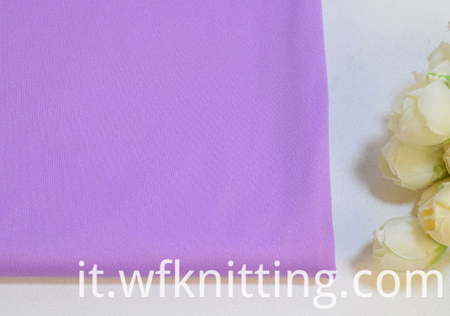 Purple polyester interlock fabric