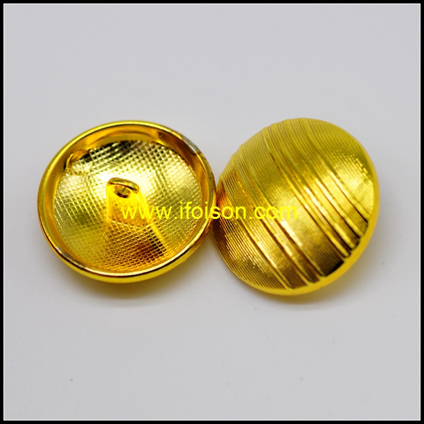 Alloy Shank Button with Stripes