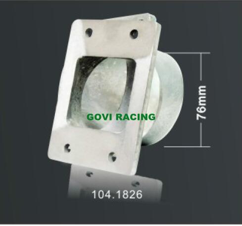 Red CNC Machine Cutting Universal Aluminum Car Adaptor for Air Filter