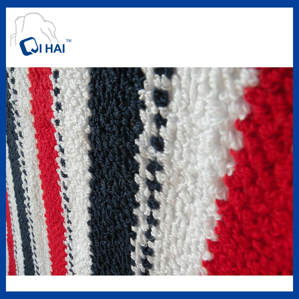 Pure Cotton Yarn Dyed Color Strip Face Towel